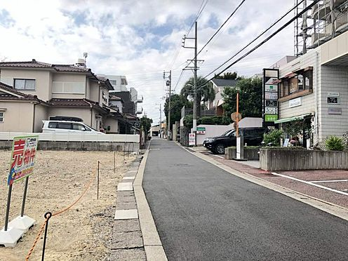 土地-名古屋市緑区大将ケ根2丁目 見晴らし良好な前面道路