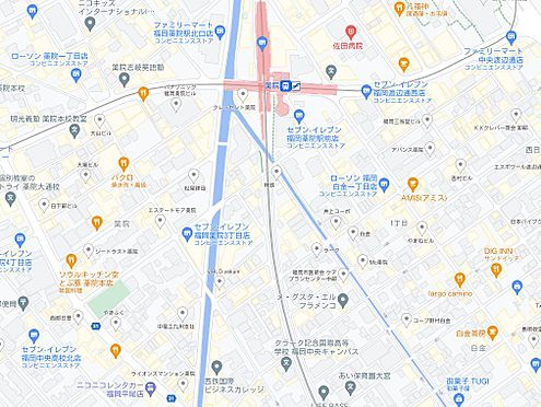 マンション(建物一部)-福岡市中央区大宮1丁目 地図