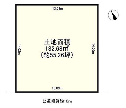 土地-神戸市北区唐櫃台4丁目 区画図