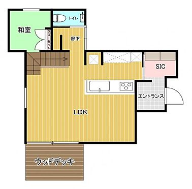中古一戸建て-福岡市早良区梅林7丁目 1階間取り