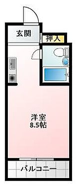 区分マンション-大阪市中央区難波千日前 間取り