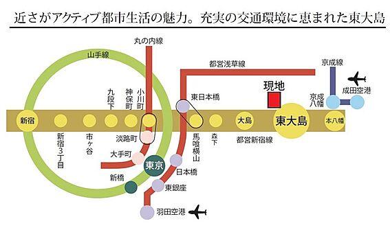 マンション(建物一部)-江東区大島7丁目 空港へのアクセスも良好です。