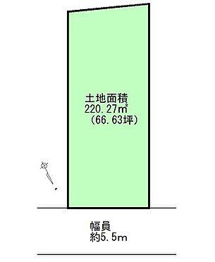 土地-仙台市太白区茂ケ崎3丁目 区画図