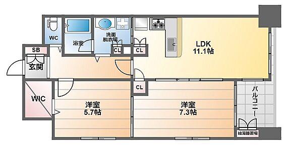 マンション(建物一部)-大阪市中央区常盤町2丁目 豊富な収納が魅力の2LDK