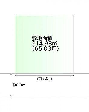 土地-仙台市青葉区桜ケ丘3丁目 区画図