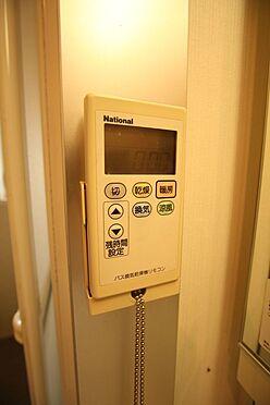 中古マンション-橿原市白橿町5丁目 雨の日のお洗濯に役立つ浴室乾燥機。浴室のカビ予防にも活躍します。