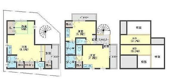 アパート-京都市山科区西野山百々町 間取り