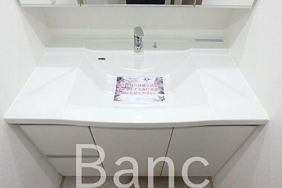 中古マンション-足立区南花畑3丁目 使いやすい独立洗面台です。