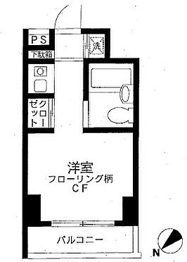 区分マンション-横浜市中区伊勢佐木町7丁目 間取り