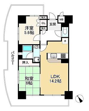 中古マンション-神戸市中央区花隈町 間取り