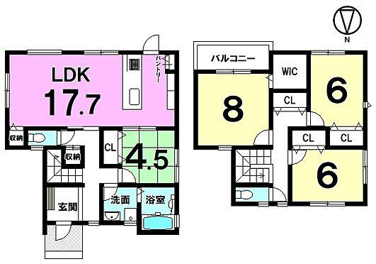 新築一戸建て-磯城郡田原本町大字阪手 南向きのLDKは光あふれる暖かなお部屋。ご家族の憩いの場にぴったりですね。豊富に確保した収納スペースやキッチンを是非ご覧下さい