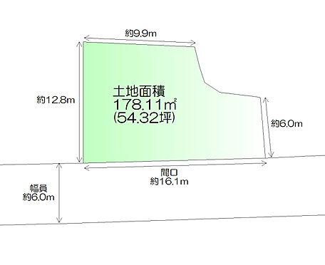 土地-仙台市太白区茂庭字中ノ瀬中 区画図