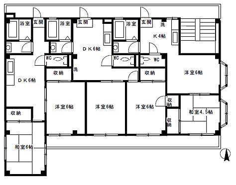 マンション(建物全部)-横浜市旭区南希望が丘 間取り