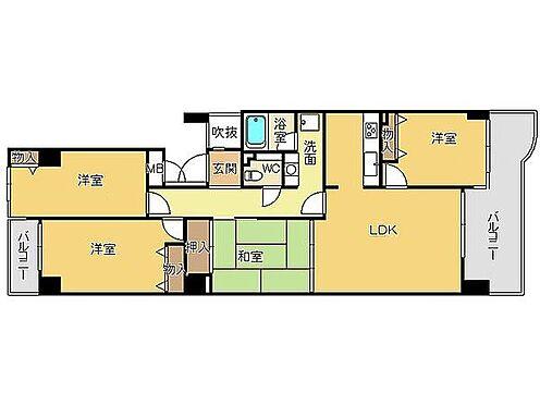 マンション(建物一部)-神戸市西区月が丘4丁目 4LDKのファミリータイプ
