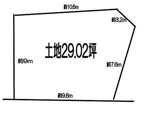 土地-新座市新座1丁目 区画図