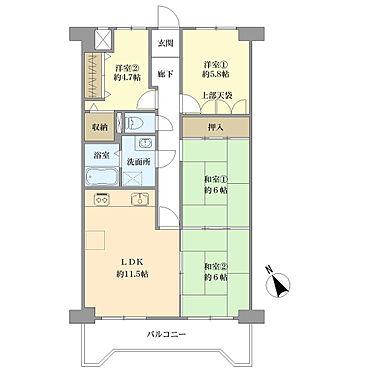 マンション(建物一部)-神戸市北区北五葉2丁目 ファミリー向き4LDK