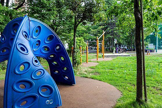 中古マンション-品川区八潮5丁目 八潮パークタウン内は公園がたくさんあります。こちらの公園は遊具を新規交換したばかりです。