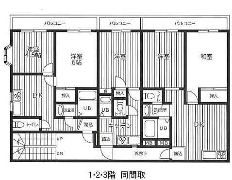 マンション(建物全部)-川崎市中原区木月4丁目 間取り
