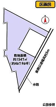 土地-西尾市一色町一色西荒子 約1547平米(約467.96坪)