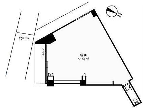店舗(建物一部)-世田谷区三軒茶屋2丁目 間取図