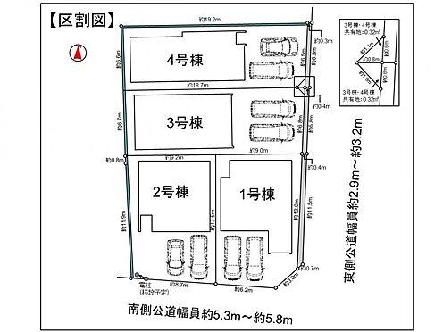 新築一戸建て-安城市姫小川町姫 区割図