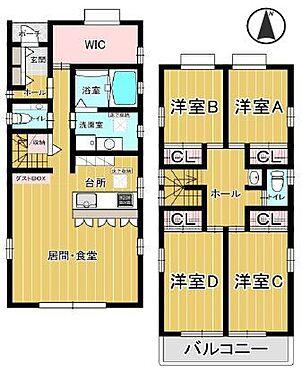 戸建賃貸-名古屋市西区清里町 各室収納スペース有り!