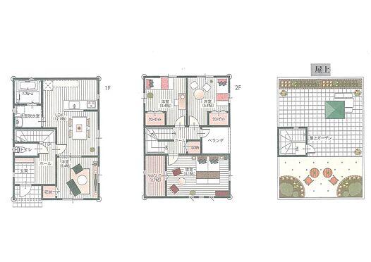土地-伊勢市二見町西 推奨プラン:施工面積30.25坪の時:建物価格1660万円
