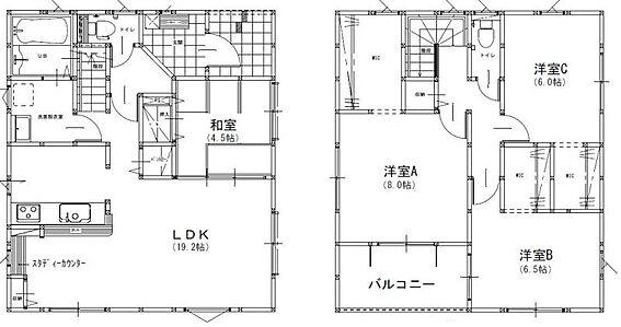 戸建賃貸-福岡市南区鶴田2丁目 4LDK、土地面積150.04m2、建物面積109.3m2