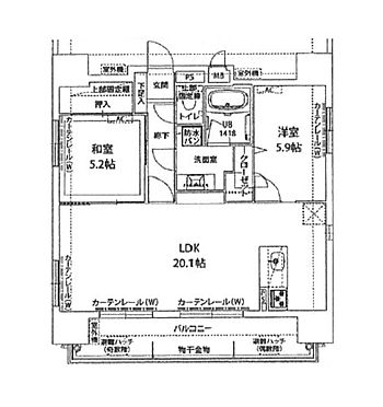 マンション(建物一部)-福岡市博多区博多駅南2丁目 間取り