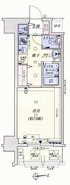 マンション(建物一部)-大阪市中央区法円坂1丁目 間取り