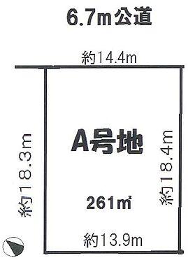土地-豊中市東豊中町3丁目 区画図