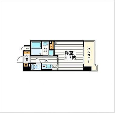 マンション(建物一部)-大阪市中央区釣鐘町2丁目 間取り