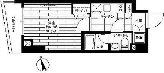 マンション(建物一部)-新宿区上落合1丁目 間取り
