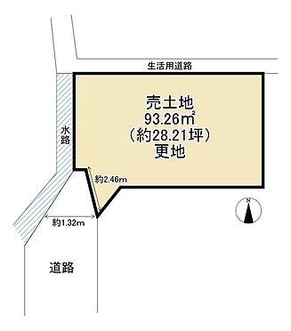 土地-交野市倉治2丁目 区画図
