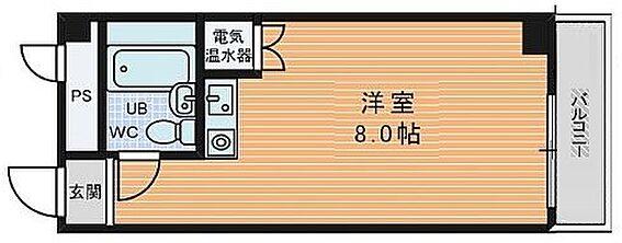 区分マンション-大阪市中央区船越町2丁目 水まわりの動線をコンパクトにまとめた使い勝手の良いプラン