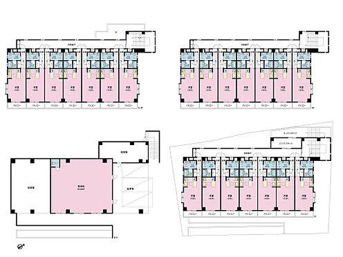 マンション(建物全部)-習志野市津田沼4丁目 地下1階部分は店舗・事務所、2〜4階部分が住居仕様です。