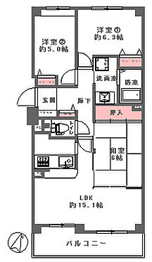 中古マンション-奈良市中登美ヶ丘4丁目 間取り