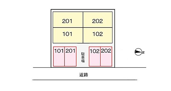 アパート-熊本市北区楡木4丁目 駐車場配置図