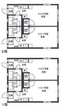 アパート-横浜市保土ケ谷区新桜ケ丘1丁目 間取り