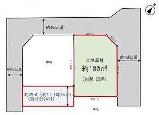 土地-桶川市大字上日出谷 区画図