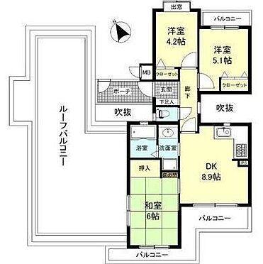 マンション(建物一部)-神戸市長田区西丸山町3丁目 浴室やキッチン等にも窓があり通風良好