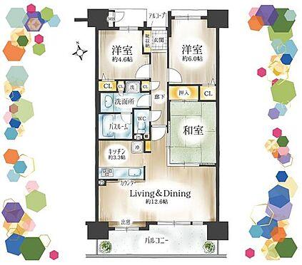 マンション(建物一部)-名古屋市天白区古川町 暮らしやすい広さと間取り。9階部分につき、陽当たり眺望良好です。
