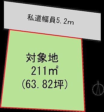 土地-熱海市上多賀 区画図