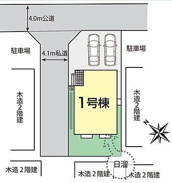 新築一戸建て-上尾市上町1丁目 区画図/接道状況