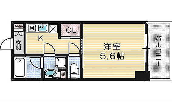 区分マンション-大阪市中央区北久宝寺町1丁目 間取り