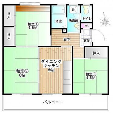 中古マンション-横浜市緑区霧が丘6丁目 南に3室面し、陽当り・通風良好