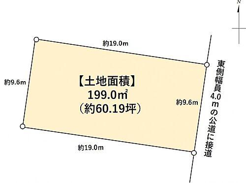 土地-一宮市猿海道2丁目 区画図