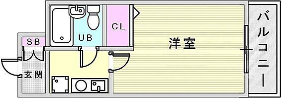 マンション(建物一部)-神戸市兵庫区湊町1丁目 ひとり暮らしに使い勝手の良い間取り。
