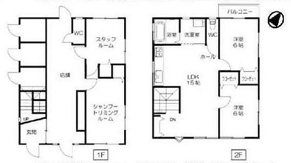 店舗付住宅(建物全部)-和歌山市築港2丁目 間取り