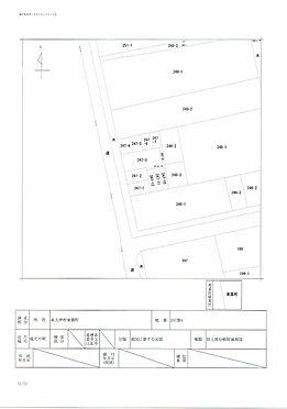 店舗付住宅(建物全部)-泉大津市東雲町 公図